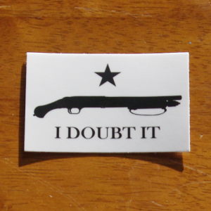i doubt it flag sticker