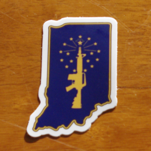 indiana flag AR sticker 1